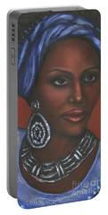 Portable Battery Charger featuring the painting Mahogany by Alga Washington