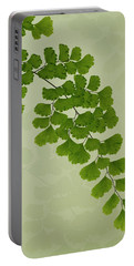 Maiden Hair Fern With Shadows Portable Battery Charger