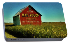 Portable Battery Charger featuring the painting Mail Pouch Barn P D P by David Dehner