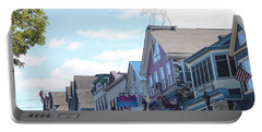 Main Street Bar Harbor Maine Portable Battery Charger by Living Color Photography Lorraine Lynch