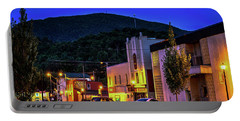 Main Street Lights Portable Battery Charger by Dale R Carlson