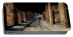 Portable Battery Charger featuring the digital art Main Street, Pompeii by Lois Bryan