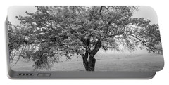 Maine Apple Tree In Fog Portable Battery Charger
