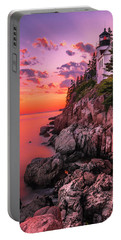 Maine Bass Harbor Lighthouse Sunset Portable Battery Charger