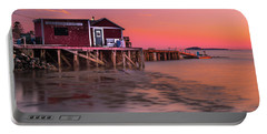 Maine Coastal Sunset At Dicks Lobsters - Crabs Shack Portable Battery Charger