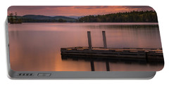 Maine Highland Lake Boat Ramp At Sunset Portable Battery Charger