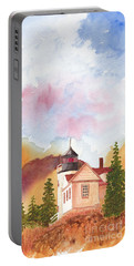 Maine Lighthouse In Morning Light Portable Battery Charger
