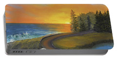 Maine Ocean Sunrise Portable Battery Charger