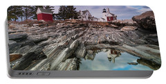 Maine Pemaquid Lighthouse Reflection Portable Battery Charger