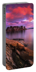 Maine Pound Of Tea Island Sunset At Freeport Portable Battery Charger by Ranjay Mitra