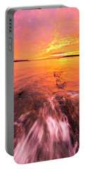 Maine Rocky Coastal Sunset At Kettle Cove Portable Battery Charger by Ranjay Mitra