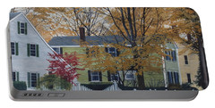 Autumn Day On Maine Street, Kennebunkport Portable Battery Charger by Barbara Barber