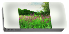 Maine Wildflowers Portable Battery Charger