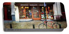 Portable Battery Charger featuring the photograph Maison Luc Bicycle by Craig J Satterlee