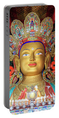 Portable Battery Charger featuring the photograph Maitreya Buddha Statue by Alexey Stiop