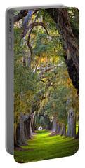 Majestic Ave Of Oaks St Simons Island Ga Tree Art Portable Battery Charger