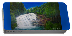 Majestic Bald River Falls Of Appalachia II Portable Battery Charger by Kimberlee Baxter