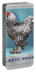 Majestic Brahma Silver Spangled Portable Battery Charger
