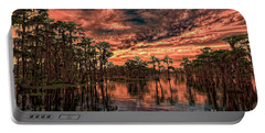 Majestic Cypress Paradise Sunset Portable Battery Charger