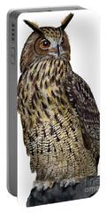 Majestic Eurasian Northern Eagle Owl Bubo Bubo - Hibou Grand-duc - Buho Real - Nationalpark Eifel Portable Battery Charger