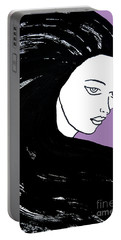 Majestic Lady J0715h Radient Orchid Pastel Painting 18-3224 B565a7 A985bb Portable Battery Charger