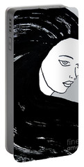 Majestic Lady J0715i Shadow Gray Pastel Painting 16-1509 Bba5a0 C6cacc Portable Battery Charger