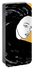 Majestic Lady Mimosa Yellow Pastel Painting 14-0848 F0b59 Portable Battery Charger