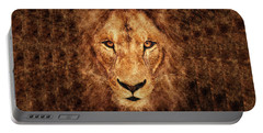 Majestic Lion Portable Battery Charger by Anton Kalinichev