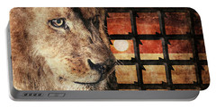 Majestic Lion In Captivity Portable Battery Charger