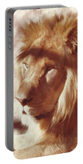 Portable Battery Charger featuring the painting Majestic Lion by Margaret Harmon