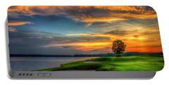 Portable Battery Charger featuring the photograph Majestic Number 4 The Landing Reynolds Plantation Art by Reid Callaway