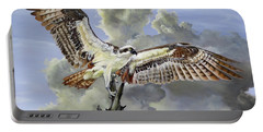 Portable Battery Charger featuring the painting Majestic Sea Hawk by Phyllis Beiser