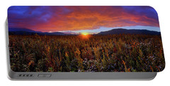 Majestic Sunset Over Cades Cove In Smoky Mountains National Park Portable Battery Charger