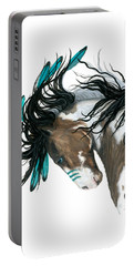 Majestic Turquoise Horse Portable Battery Charger by AmyLyn Bihrle