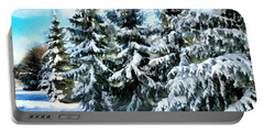 Majestic Winter In New England  Portable Battery Charger by Judy Palkimas
