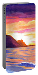 Makana Sunset Portable Battery Charger by Marionette Taboniar