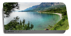 Makarska Riviera White Stone Beach, Dalmatian Coast, Croatia Portable Battery Charger