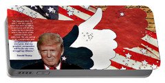 Make America Great Again - President Donald Trump Portable Battery Charger by Glenn McCarthy Art and Photography
