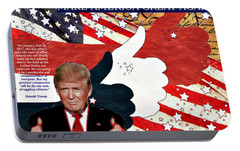 Portable Battery Charger featuring the digital art Make America Great Again - President Donald Trump by Glenn McCarthy Art and Photography