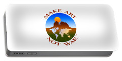 Make Art Not War Logo Portable Battery Charger