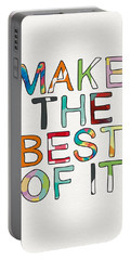 Make The Best Of It Multicolor- Art By Linda Woods Portable Battery Charger
