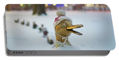 Make Way For Ducklings Winter Hats Boston Public Garden Christmas Portable Battery Charger