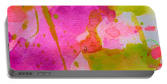 Portable Battery Charger featuring the painting Make Your Own Ending by Tracy Bonin