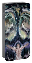 Portable Battery Charger featuring the painting Making Angels 2 - The Wings by Cheryl Pettigrew