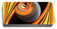 Portable Battery Charger featuring the digital art Making Orange Planets by Angelina Vick