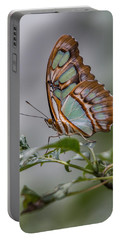 Malachite Butterfly Profile Portable Battery Charger by Patti Deters