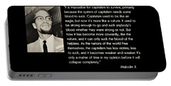 Malcolm X  On Capitalism And Vultures Portable Battery Charger