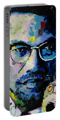 Malcolm X Portable Battery Charger by Richard Day