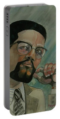 Malcom X Portable Battery Charger by Ray Agius
