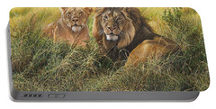 Male And Female Lion Portable Battery Charger